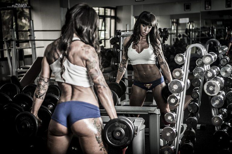 Sesion de fotos en gimnasio fitness