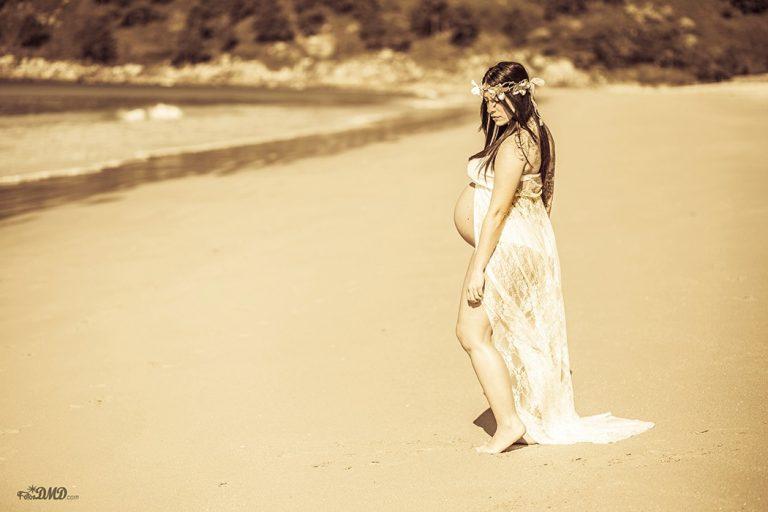 Fotografia de embarazo en exterior