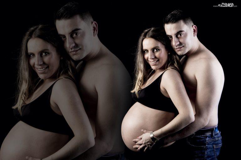 Fotografia de embarazo en estudio